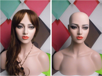New Arrival Plus Size Fiberglass Female Mannequin Head For Sunglass Hat Display Makeup Manikin Heads