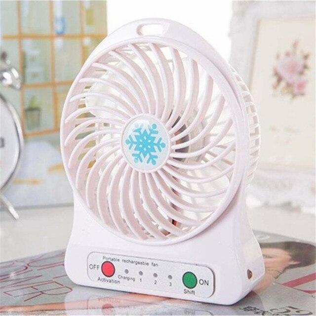 EasyULT USB Rechargeable Ventilateur /à Main Bleu Bureau et Voyage Mini Ventilateur Silencieux avec 3 Vitesses R/églable Portable Fan pour Maison