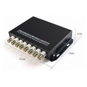 Image 4 - 8 kanal Digital Video Optical Fiber Media Konverter Sender/Empfänger Für Security system CCTV Kameras