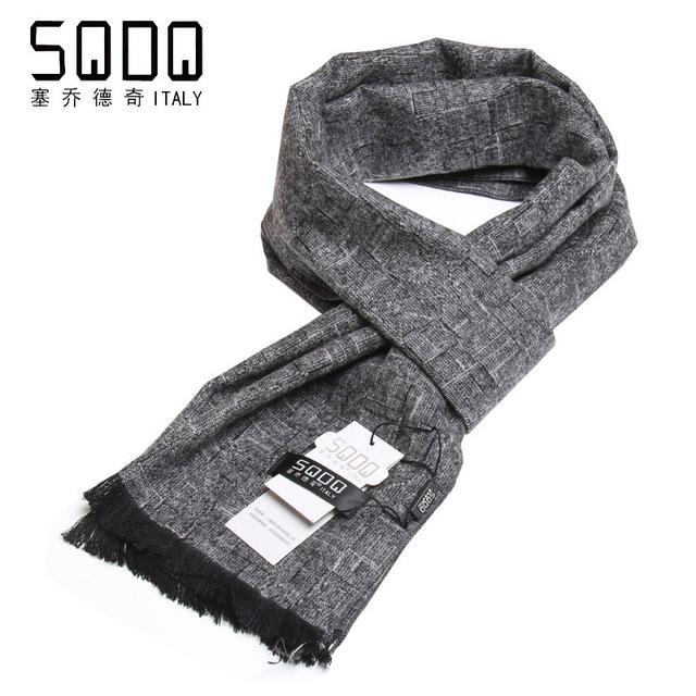 2016 outono e inverno masculino cachecol cachecol quente cinza todo o jogo lenço de seda escovado masculino presente 0566