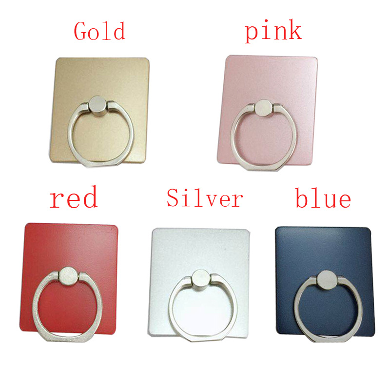 2pcs/lot Square grinding Mobile Phone Case Finger Ring Holder for for iphone Samsung Android Mobile Phone Back Cover