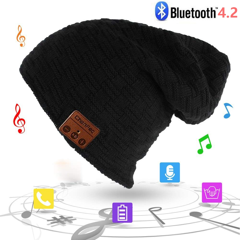 Best Christmas Gift Fashion Wireless Bluetooth Music Hat Cap Bluetooth Earphone Headphone Headset Speaker Mic Sport Knitted Hats fashion soft warm beanie hat wireless bluetooth smart cap headphone headset speaker mic
