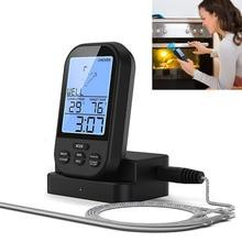 Кухня Беспроводной Цифровой Термометр Для Мяса Дистанционное БАРБЕКЮ Приготовления Пищи для Печь Гриль Курильщик с Таймером 2016