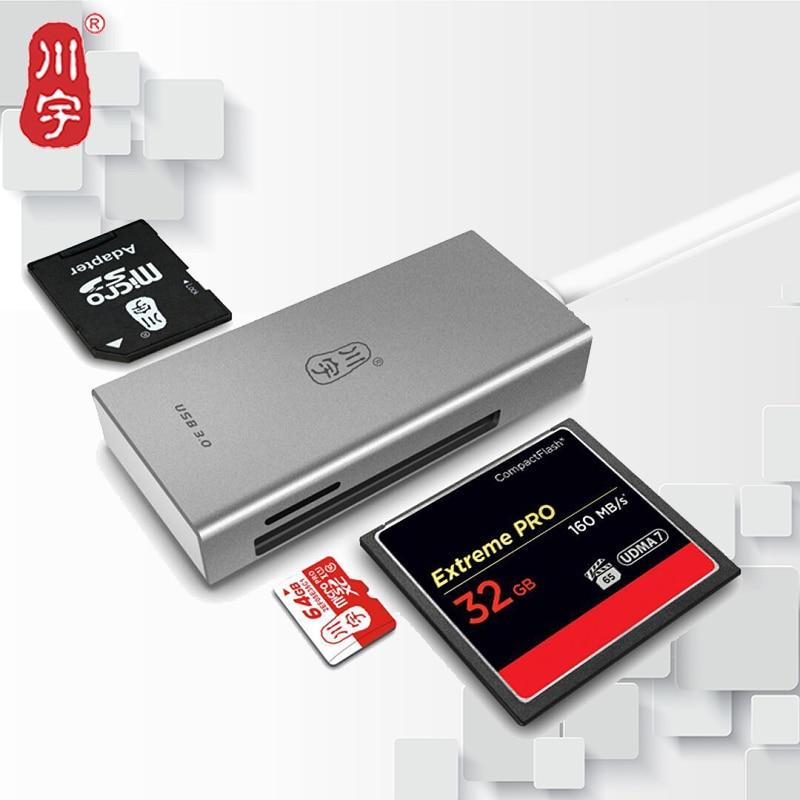 Kawau 3.0 USB Lecteur de Carte Haute Vitesse Adaptateur avec Micro SD/SD/Fente Pour Carte CF pour Ordinateur Mémoire lecteur de carte C388
