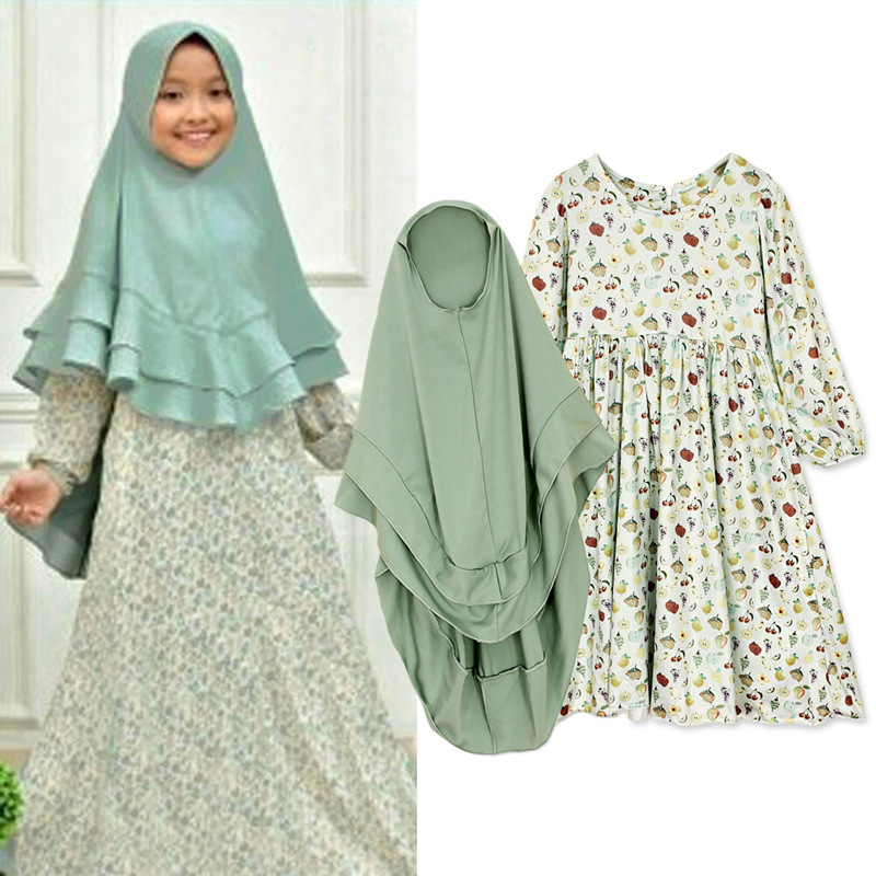2019 new arrival summer and autumn muslim small girl plus size abaya