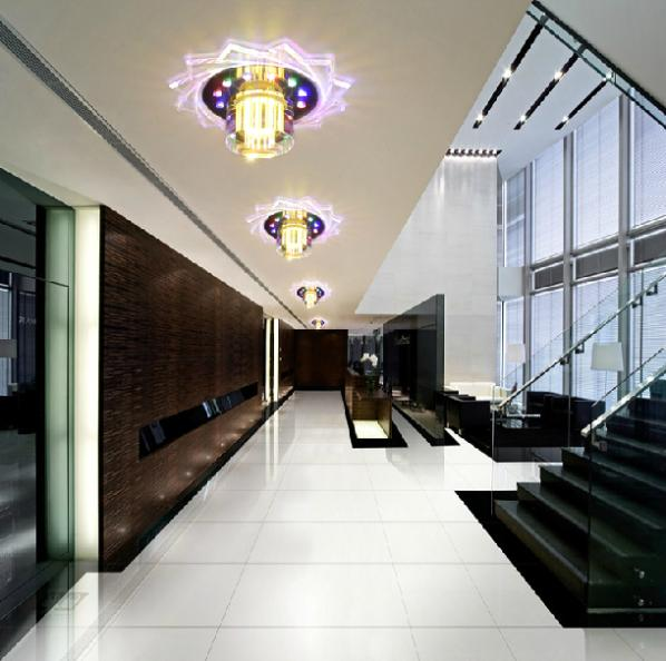 colorpai new 2014 led entrance lights modern brief crystal lamp 3w