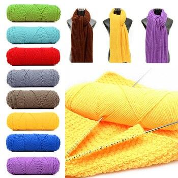 100 Grteile Bunte Natürliche Weichen Woll Baumwolle Garn Dickes