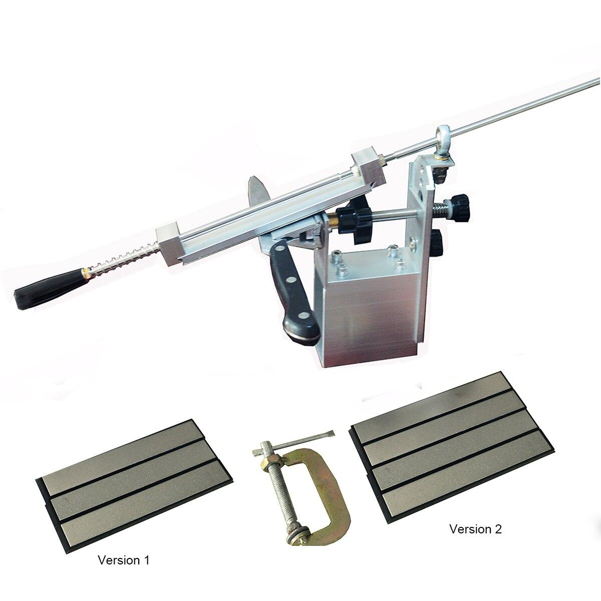 5 génération professionnel pro Apex Bord couteau de cuisine sharpener système avec 3 & 4 Diamant Pierres À Aiguiser + En alliage D'aluminium + G clip