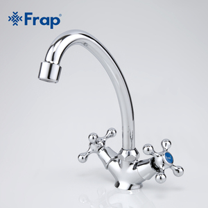 Image 3 - Frap Classic Style Kitchen Faucet Cold and Hot Water Mixer Tap Double Handle Torneira Cozinha 360 Degree Rotation F4908