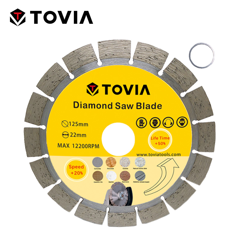 TOVIA Continuou Rim Diamond Marble Saw blade Specialized Stone Cutting Sheet Multitool Angle Grinder Saw Disc