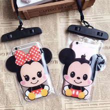 CartoonAnimal Travel Accessories Women Waterproof Pouch Bag PVC Cell Phone Case For IPhone Coin Purse Card Holder Storage Wallet