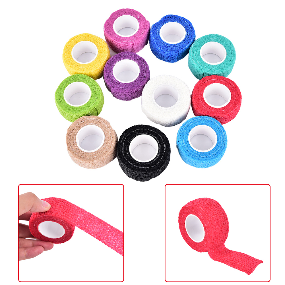 Self Adhesive Elastic Tattoo Bandage Non-woven Fabric 4 .5cm Wide Elbow Binding Protection Wrap Nail Tape Tattoo Accessories Hot