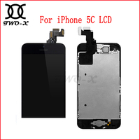 For IPhone 5C LCD Screen Full Assembly Display With Touch Screen Digitizer Front Camera Home Button