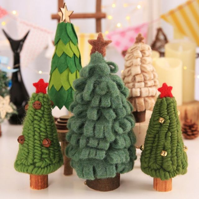 window decoration christmas decoration wool felt wooden old man snowman doll christmas tree decoration childrens gift