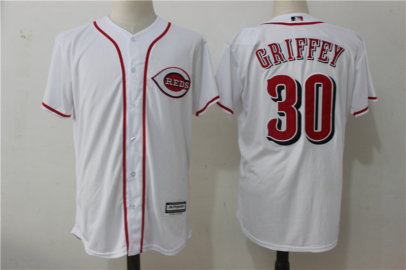 MLB Mens Cincinnati Reds 30 # GRIFFEY Retro Player Edition Jersey, Baseball Jersey MLB Jersey Free Shipping