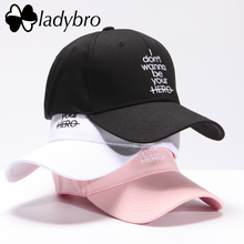 Ladybro Women Hat Cap Men Casual Letter I CAME TO BREAK HEARTS Baseball Cap Snapback Hats For Female Dad Hat Hip Hop Bone