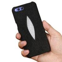 Genuine Leather Half pack shockproof phone case For Nokia Lumia 950 XL 950 650 640 XL 7 plus 6 X6 luxurious Stingray fish case
