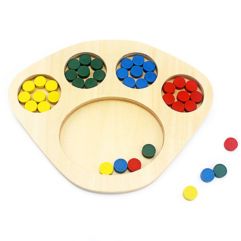 Montessori Sensory Toys Color Sorting Tray Toys For Toddler Shape & Color Sorters Early Development Toys Exercises Student Color