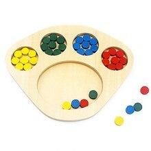 Montessori sensorial brinquedos cor bandeja de classificação brinquedos para criança forma & cor classificadores cedo desenvolvimento brinquedos exercícios estudante cor