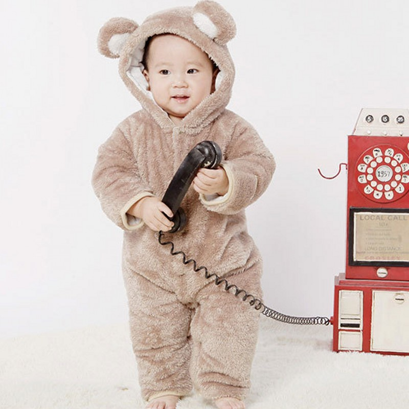 New Baby Clothes  Rompers Girs and Boys THICKNESS Baby Animal Costumes Bebek Tulumu  Baby Boys Clothes 7BR007