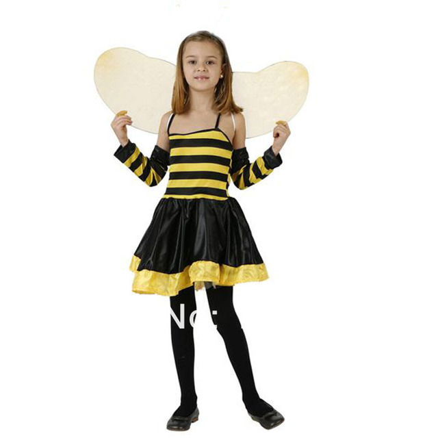 fantasias infantil Halloween costumes for kids bee costume for girls Fairy Tutu party fantasy dress Bumblebee  sc 1 st  AliExpress.com & fantasias infantil Halloween costumes for kids bee costume for girls ...