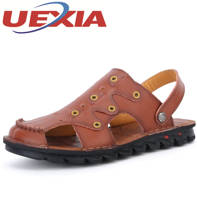 2014 unisex online cheap sale enjoy High Quality PU Leather Summer Men Casual Outdoor Beach Flip Flops low price for sale discount visa payment j2rA1G