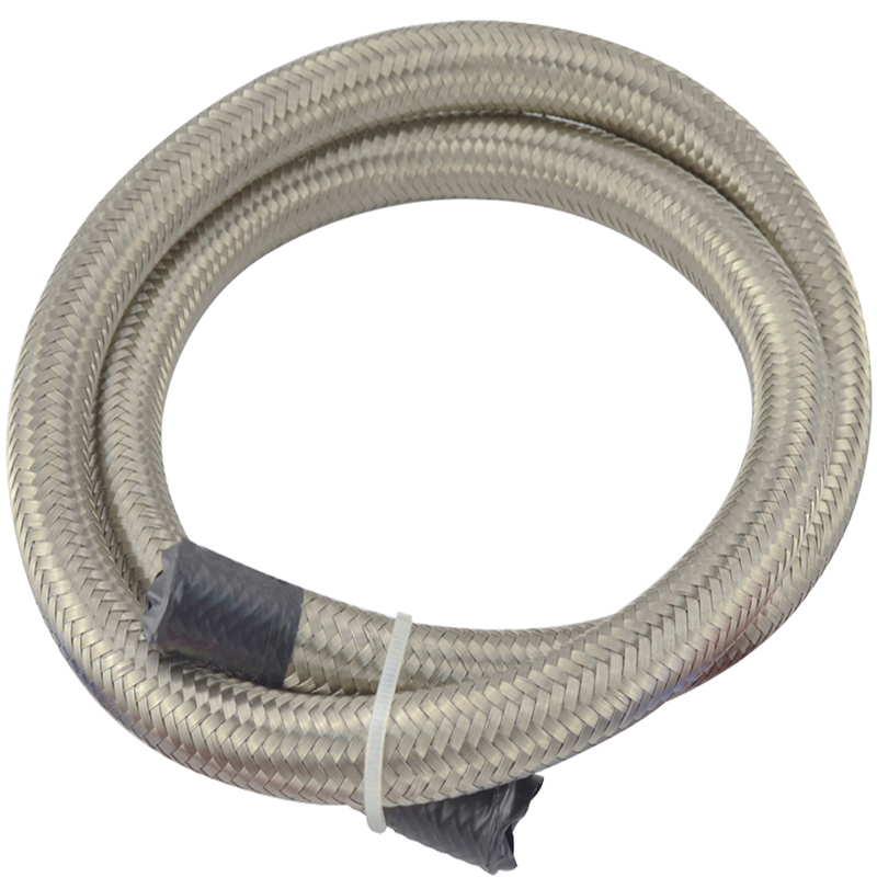 Top Quality 6 AN 6 Universal fuel hose / Oil hose / fitting hose Kit Stainless Steel Bra ...