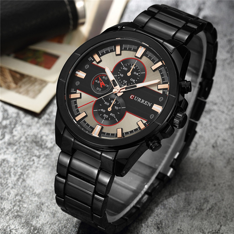 CURREN Men Watch Top Brand Luxury Sport Mens Watches Classic Military Army Business Leather Band Wrist Quartz Male Clock Saat genuine curren brand design leather military men cool fashion clock sport male gift wrist quartz business water resistant watch