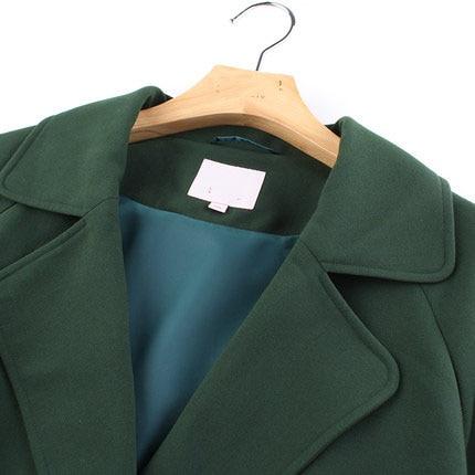 Collier Chaude Outwear Coupe Atumn Greem vent Nouvelle 4xl Femelle Hauts 2019 Lx1336 Virage Grande coat Ayunsue Femmes Taille Vers Trench Long Bas Le Mode Dark HpSxR