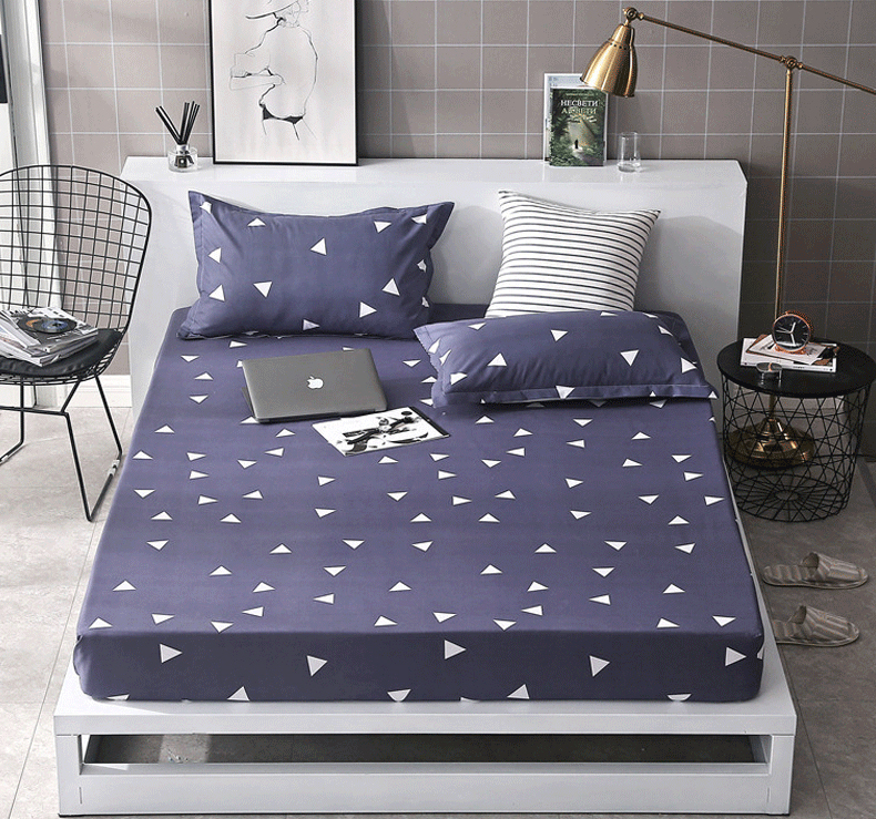 Grey White Twin Full Queen size fitted sheet pillowcase ...