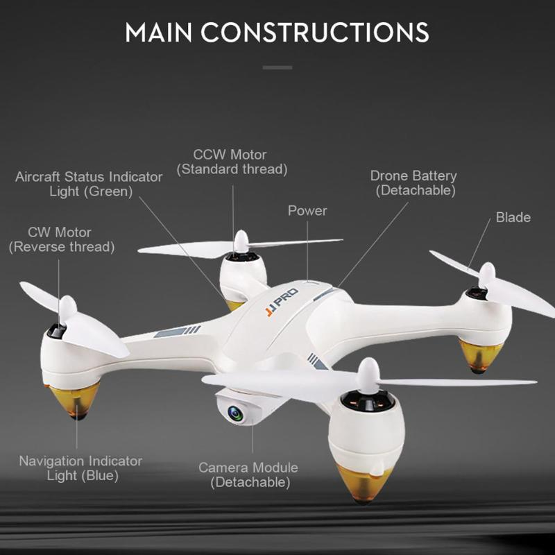 JJRC JJPRO X3 RTF Brushless GPS RC Drone 500m WiFi FPV RC Drone Quadcopter with 1080P HD Mode Camera Toy Gift