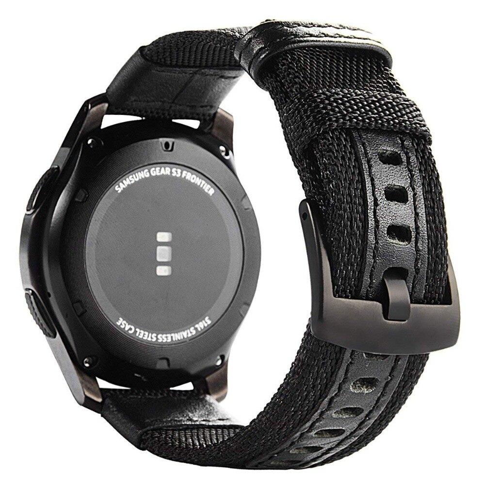 Para Samsung Gear S3 Frontier/Reloj clásico nylon tela Band 22mm Correa Universal Quick Release pasadores reemplazo correas