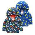 Children's Hooded Jackets Spring Girls Boys Outerwear Fashion Dinosaur Boys Sweatshirts Cute Boy Hoodie Casaco Infantil Menina