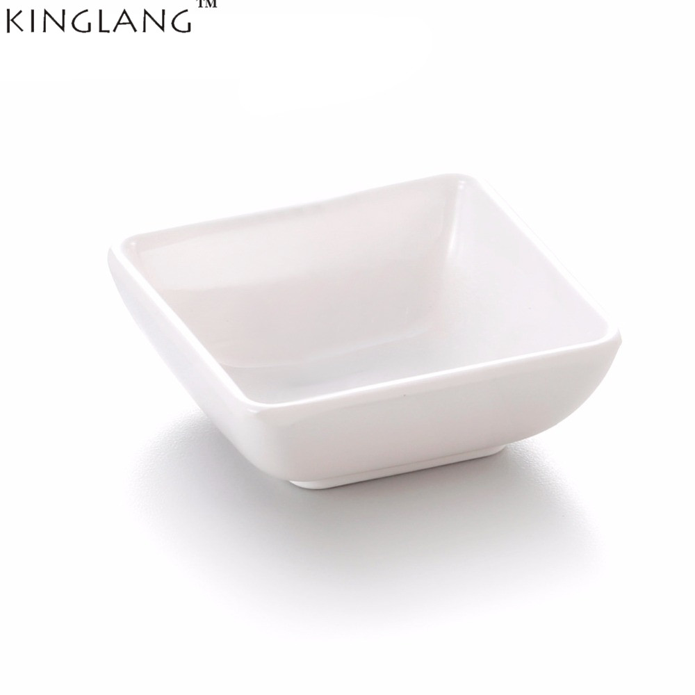 KINGLANG Melamine Solid Dipping Soy Sauce Bowl Wasabi Plastic Canteen buffet Use Small Sauce Dish Tableware