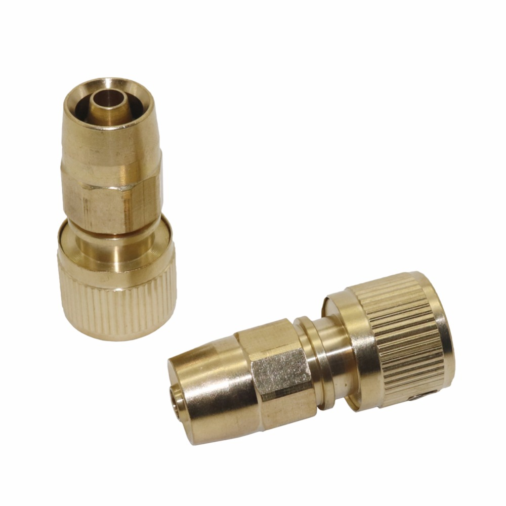 3/8 Hose Connector Copper Telescopic Pipe Fittings Washing water gun quick connector homebrew Car wash clean Tools