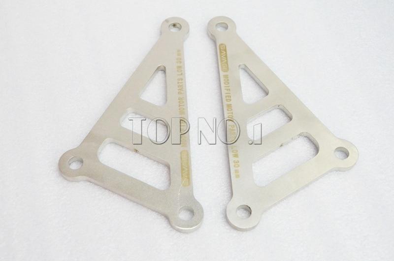 ФОТО For YAMAHA FZ1 N/S 2006-2012 FZ-8 N/S 2011-2012 Motorcycle Rear Adjustable Lowering Suspension Drop Links Kit Lowering Link Kit