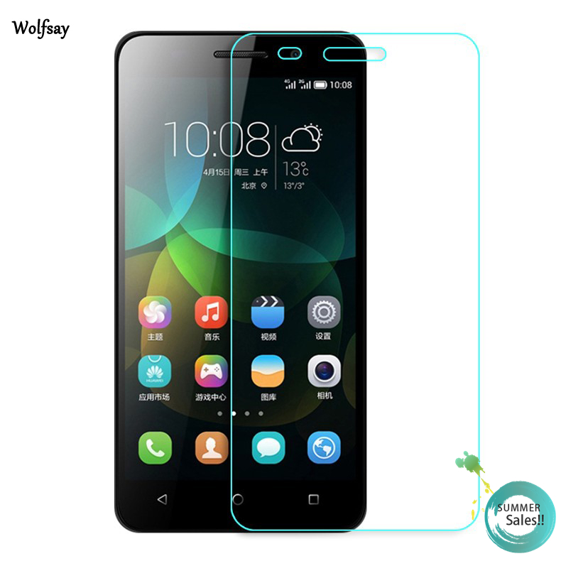 2pcs For Huawei Honor 4C Screen Protector Tempered Glass For Huawei Honor 4C Glass Honor 4C Ultra Thin Protective Film Wolfsay