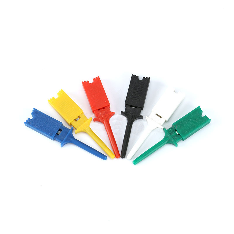 Free Shipping 100pcs Insulation Materials Test Hook Clip Kit Logic Analyzer Logic Test Clip Multimeter Hook 5color*20pc