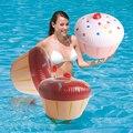 60*50 cm PVC Linda Torta Inflable Modelo de Simulación Para Niños Piscina Juguetes Fiesta de Cumpleaños Decoración de Juguetes Para el Agua
