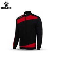 Kelme bambino k15z313 manica lunga mezza zip collare del basamento training soccer jersey nero rosso