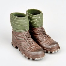 Male Shoes 1/6 WWII German Soldier Army Non-slip Boots Model Toys For 12″ Action Figure Body Accessory