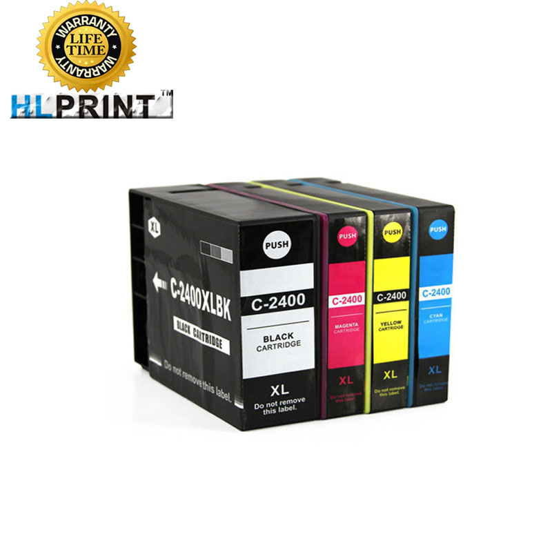 PGI 2400XL ink cartridge compatible for CANON MAXIFY IB4040 iB4140 MB5040 MB5140 MB5340 MB5440 printer PIGMENT INK 4pcs pgi 2300 pgi2300 ink cartridge for canon maxify m b 5030 maxify m b 5330 maxify i b 4030