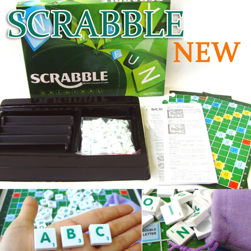 SCRABBLE GAME Puzzle Board Game Family/Party/Friends Funny Learning Game Best Gift for Children