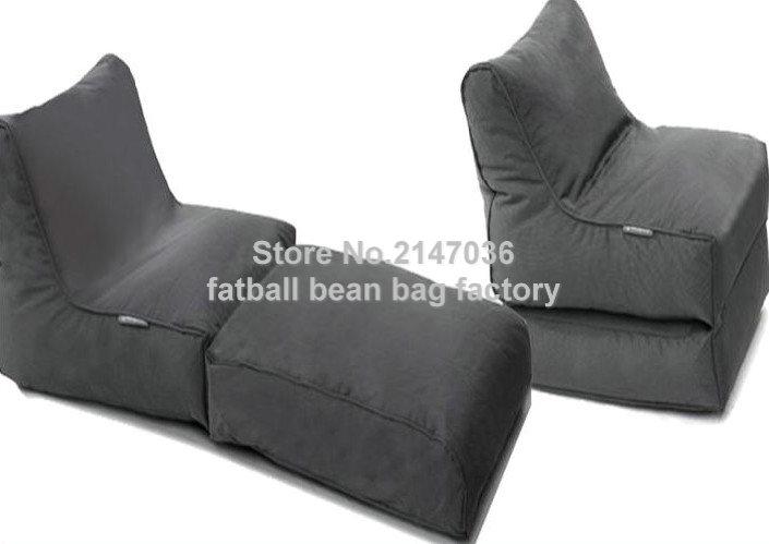 Black foldable sofa chair outdoor bean bag furniture set waterproof beanbag seat