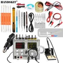 Источник питания Handskit 110 В/220 В постоянного тока 5 В 2 А 4 в 1 30 в 5 А SMD, паяльная станция с термофеном + набор паяльников