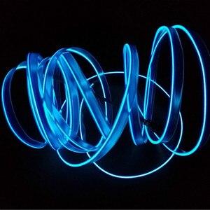 Image 3 - JURUS bande de lumière dambiance pour moto, 5M, 10 couleurs, éclairage dambiance, ligne froide EL, moulage Flexible pour lintérieur
