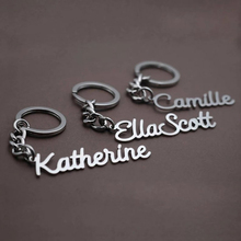 Custom Keychain Personalized Nameplate Keyring Stainless Steel Name Key Chain Jewelry Gift Womens Clothing & Accessories