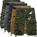 Pantalones Cortos de los hombres Nuevo Estilo 2017 Pantalones de Combate Del Ejército Táctico Multi-color de Alta Calidad Sólido Trabajo Pocket Shorts Tamaño S-4XL