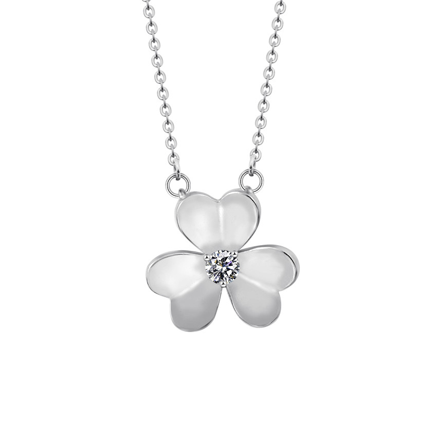 Lucky Three Leaf Clover Necklaces Irish Shamrock Pendants For Women Bohemia Jewelry Charm Chain Collier Saint Patrick Day Gift
