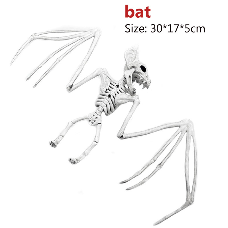 Halloween Decoration Bone Props Animals Skeleton Ornaments Bat Spider Dragon Bird Bones Hallowmas Horror House Party Decoration (85)